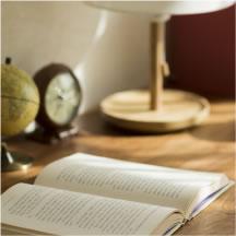 机の上に本